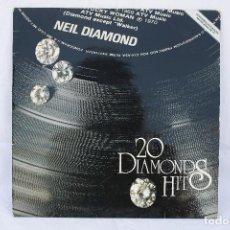 Discos de vinilo: DISCO VINILO LP - NEIL DIAMOND 20 DIAMONDS HITS - MCA RECORDS. Lote 84162740