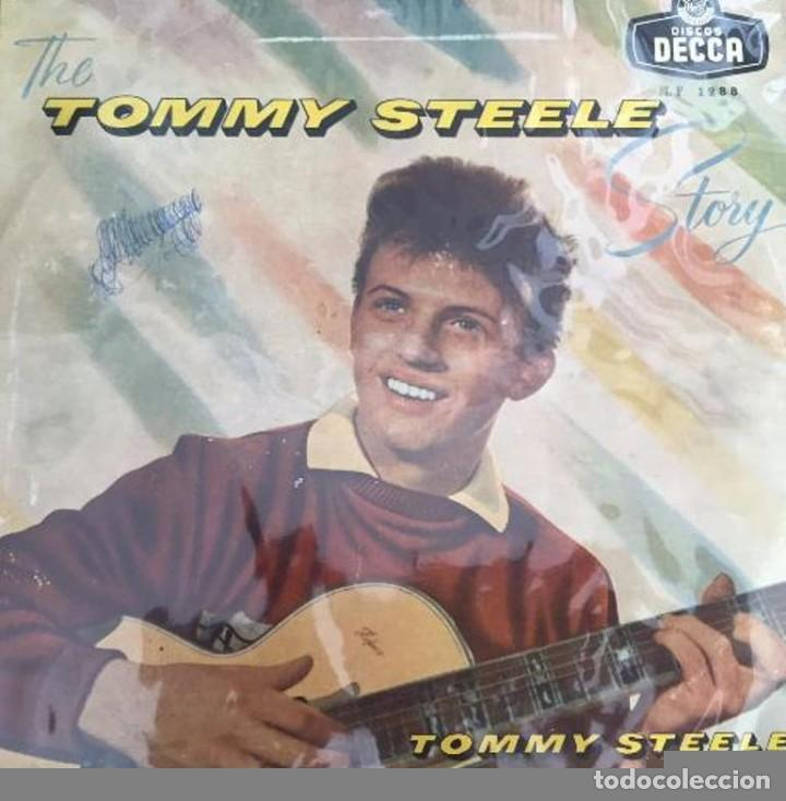 ANTIGUO DISCO VINILO THE TOMMY STEELE STORY - LONG PLAYING SIN CARATULA SOLO PLASTICO PROTECCION (Música - Discos de Vinilo - Maxi Singles - Rock & Roll)
