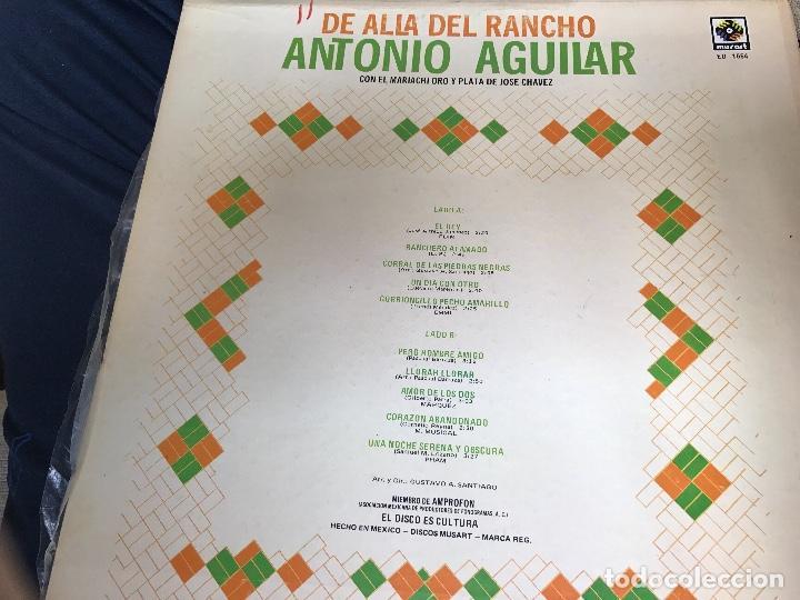 Discos de vinilo: ANTIGUO LP ANTONIO AGUILAR DE ALLÁ DEL RANCHO GRANDE - Foto 4 - 84194228