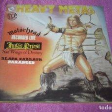 Discos de vinilo: HEAVY METAL 3 LP SET. 1984 PDI MOTORHEAD-JUDAS PRIEST-BLACK SABBATH PARANOID BUENO. Lote 84199612