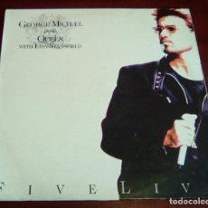 Discos de vinilo: GEORGE MICHAEL AND QUEEN WITH LISA STANSFIELD - FIVE LIVE - LP - 1993. Lote 84204644