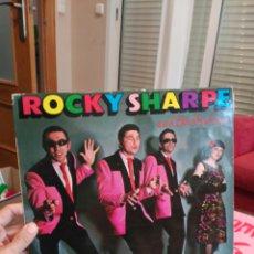 Discos de vinilo: ROCKY SHARPE CARÁTULA NUEVA Y LP ROTO, SE PUEDEN ESCUCHAR 8 DE 14 (NO RAMALAMA) INCLUYENDO LETRAS. Lote 84212918