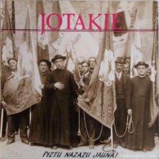 Disques de vinyle: JOTAKIE. PIZTU NAZAZU JAUNA! LP CON HOJA INTERIOR CON LETRAS. Lote 84237664