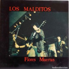 Discos de vinilo: LOS MALDITOS. FLORES MUERTAS. LP ORIGINAL EN ROMILARD CON FUNDA INTERIOR CON LETRAS. Lote 84240732