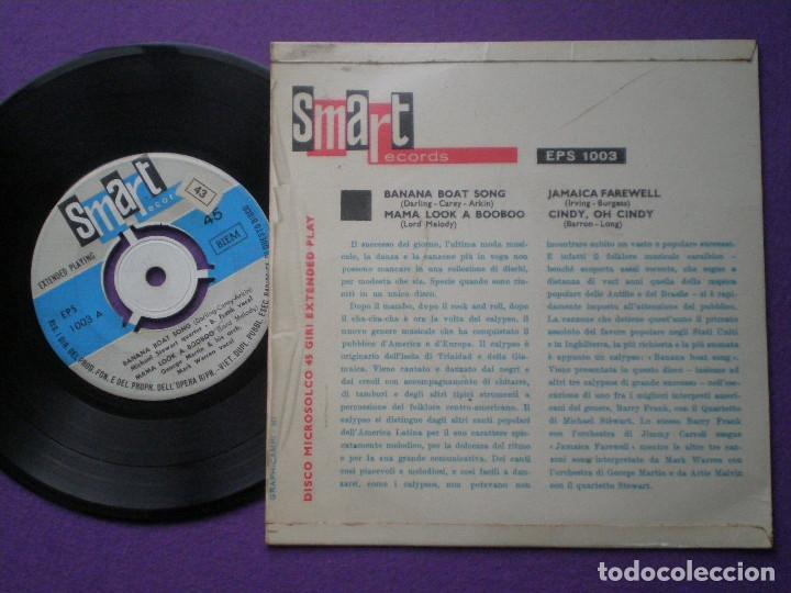 Discos de vinilo: GEORGE MARTIN & MARK WARREN - Jamaica Farewell +3 EP ITALIA SMART 196? Beatles Related CALYPSO Mambo - Foto 2 - 84256064
