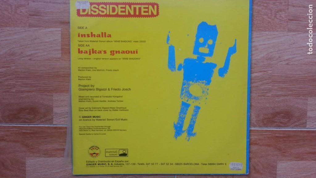 Discos de vinilo: DISSIDENTEN-INSHALLA-BAJKA'SGNAOUI - Foto 2 - 84220552