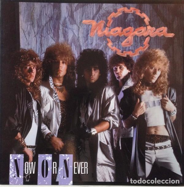 NIAGARA - NOW OR NEVER - LP VINYL 1988 AVISPA - COMO NUEVO - NM - (SANGRE AZUL) (Música - Discos - LP Vinilo - Heavy - Metal)