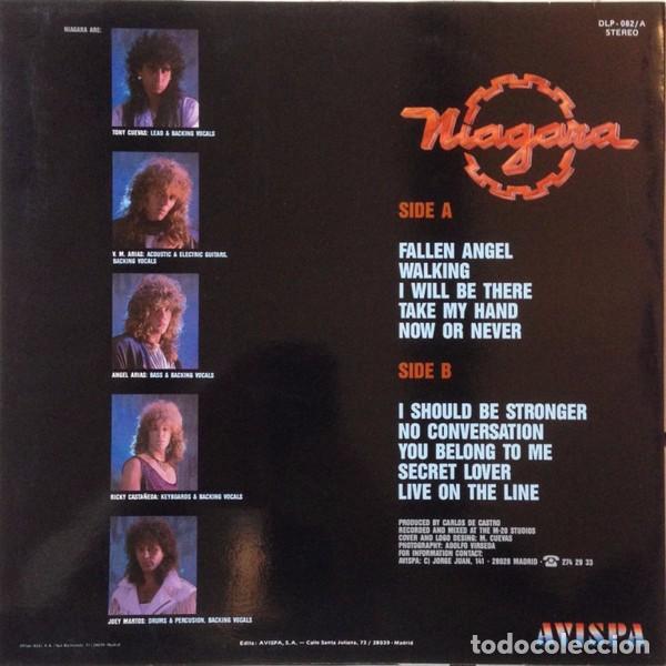 Discos de vinilo: NIAGARA - NOW OR NEVER - LP VINYL 1988 AVISPA - Como nuevo - NM - (Sangre Azul) - Foto 2 - 84280076