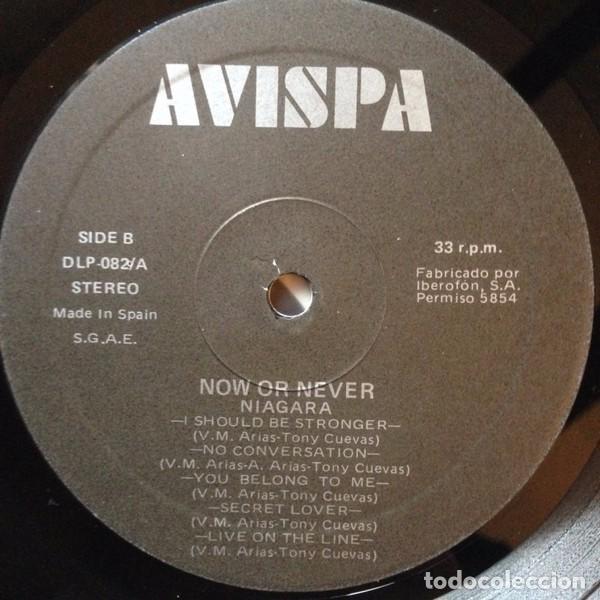 Discos de vinilo: NIAGARA - NOW OR NEVER - LP VINYL 1988 AVISPA - Como nuevo - NM - (Sangre Azul) - Foto 4 - 84280076