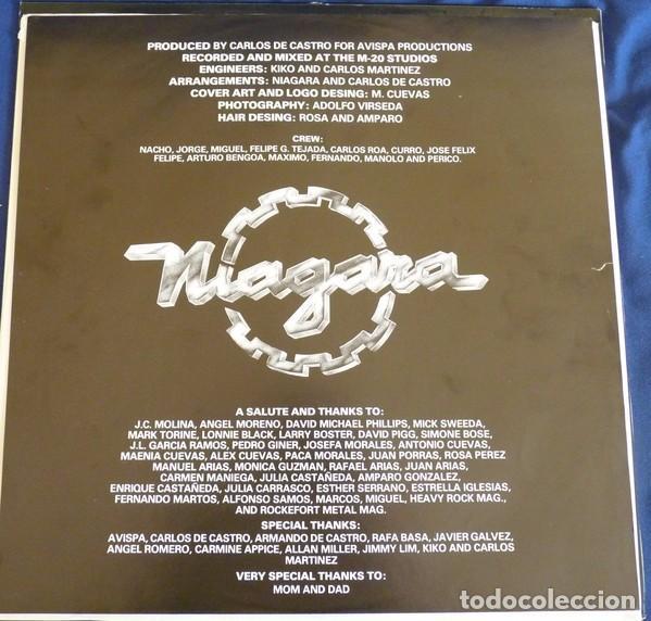 Discos de vinilo: NIAGARA - NOW OR NEVER - LP VINYL 1988 AVISPA - Como nuevo - NM - (Sangre Azul) - Foto 5 - 84280076