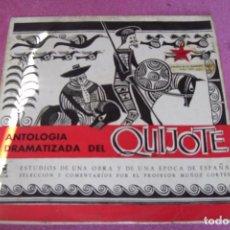 Discos de vinilo: ANTOLOGIA DEL QUIJOTE ESTUDIO DE UNA OBRA Y UNA EPOCA MUÑOZ CORTES LP 1959 SONORA DE LA ENSEÑANZA. Lote 84296432