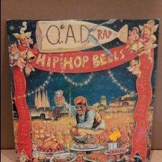 Discos de vinilo: Q.A.D.RAP. HIP HOP BELLS. / QUIQUE TEJADA. MAXI SG / OTR - 1992 / MBC. ***/***. Lote 84332496