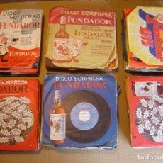 Discos de vinilo: LOTE DE 120 SINGLES DISCOS FUNDADOR PUBLICIDAD PROMOS TODOS LOS ESTILOS. Lote 84337460