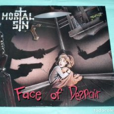 Discos de vinilo: LP MORTAL SIN - FACE OF DESPAIR. Lote 84390584