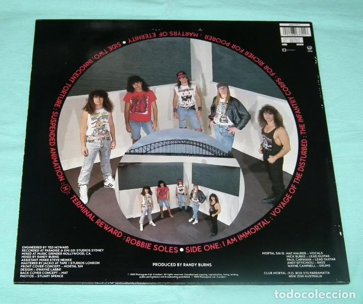 Discos de vinilo: LP MORTAL SIN - FACE OF DESPAIR - Foto 2 - 84390584