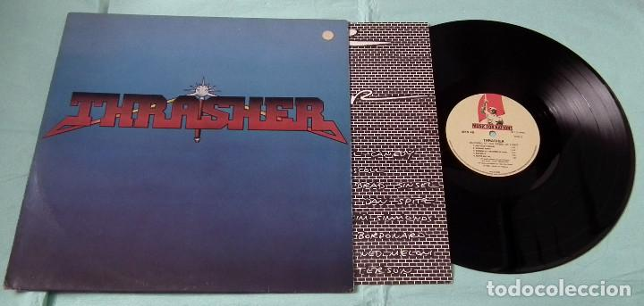 Discos de vinilo: LP THRASHER - BURNING AT THE SPEED OF LIGHT - Foto 3 - 84399364