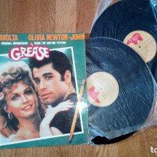 Discos de vinilo: ORIGINAL GREASE INCLUYE 2 VINILOS JHON TRAVOLTA. Lote 84429336