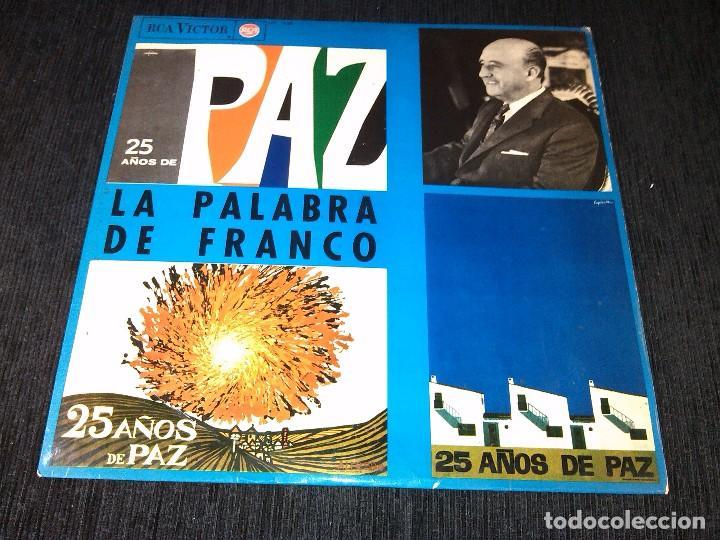 25 AÑOS DE PAZ - PALABRAS DE FRANCO - LP (PERFECTO ESTADO ) (Música - Discos - LP Vinilo - Otros estilos)