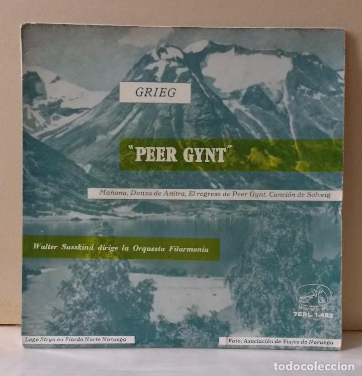 GRIEG, PEER GYNT - DIRECTOR: WALTER SUSSKIND (Música - Discos - Singles Vinilo - Clásica, Ópera, Zarzuela y Marchas)