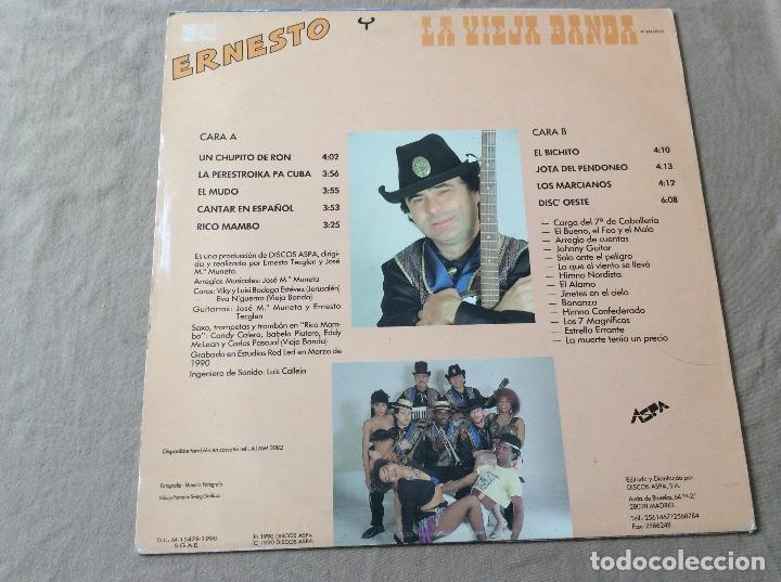 Discos de vinilo: Ernesto y La Vieja Banda. Un Chupito de Ron - Discos Aspa 1990. - Foto 2 - 84491212