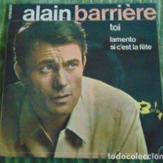 Discos de vinilo: ALAIN BARRIERE - TOI + 2 - 1966. Lote 84560052