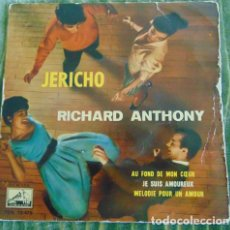 Discos de vinilo: RICHARD ANTHONY - JERICHO + 3- RARO EP 1960 VINILO COLOR. Lote 84560068