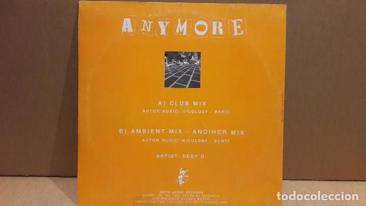 Discos de vinilo: DESY D. ANYMORE. MAXI SG / LUCAS RECORDS - 1994 / MBC. ***/*** - Foto 2 - 84621216