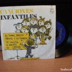 Discos de vinilo: CANCIONES INFANTILES - EL BURRO PERICO +3 - EP PHILIPS 1969 PROMOCIONAL. Lote 84624044