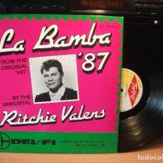 Discos de vinilo: RITCHIE VALENS,LA BAMBA 87 MAXISINGLE TWINS . Lote 84628080