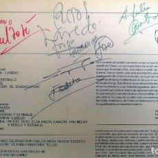 Discos de vinilo: VVAA. LA MISA CAMPESINA 1979 LP FIRMADO Y DEDICADO POR MIGUEL BOSÉ, ELSA BAEZA, ANA BELÉN... TODOS . Lote 84633628