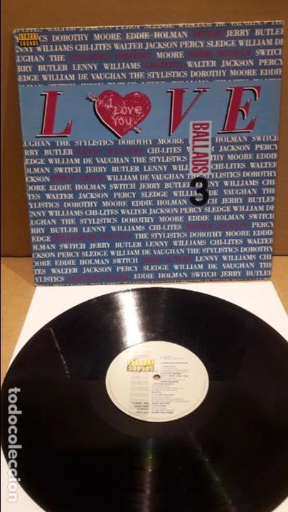 BALLADS 3 - VARIOS ARTISTAS. RECOPILATORIO / LOVE. LP / STREET SOUNDS - 1988 / MBC. ***/*** (Música - Discos de Vinilo - EPs - Funk, Soul y Black Music)