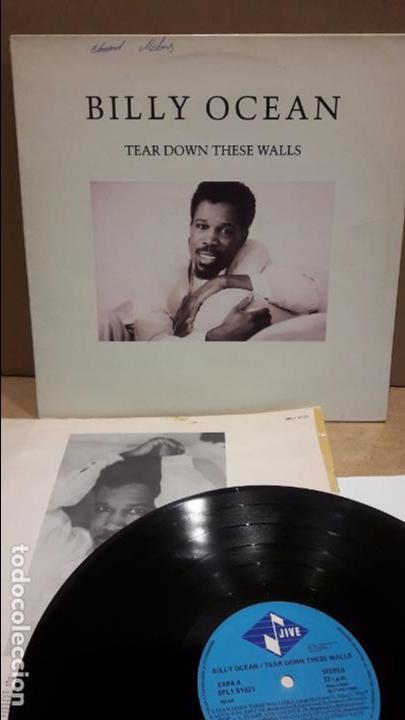 BILLY OCEAN. TEAR DOWN THESE WALLS. LP / JIVE - 1988 / MBC. ***/*** (Música - Discos - LP Vinilo - Funk, Soul y Black Music)