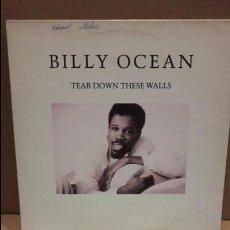 Discos de vinilo: BILLY OCEAN. TEAR DOWN THESE WALLS. LP / JIVE - 1988 / MBC. ***/***. Lote 84637676