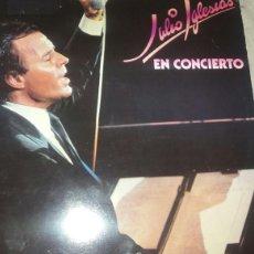 Discos de vinilo: DOBLE VINILO DE JULIO IGLESIAS EN CONCIERTO. DISCOS CBS S.A 1983. Lote 84643854