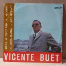Discos de vinilo: VICENTE BUET - EP AÑO 1970 ADIOS MI DULCE BIEN. Lote 84662340