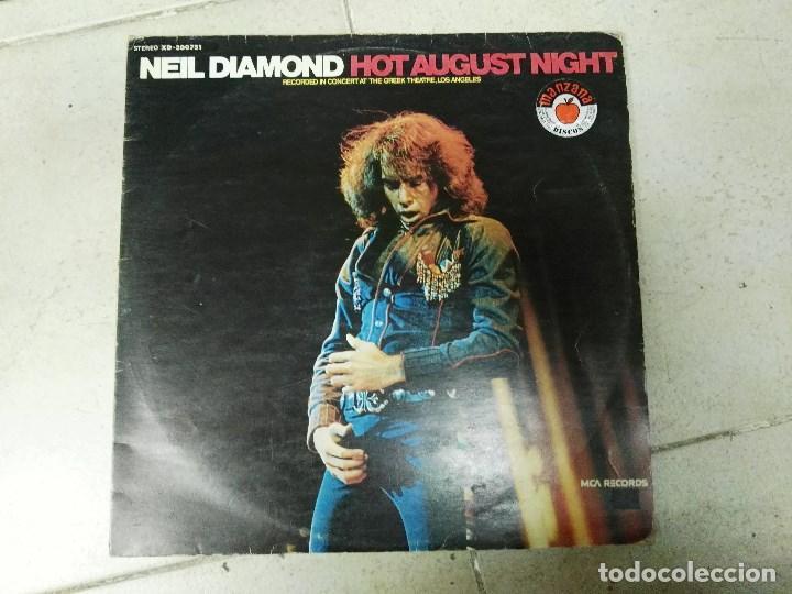 DOBLE LP NEIL DIAMOND HOT AUGUST NIGHT (Música - Discos - LP Vinilo - Pop - Rock - Extranjero de los 70)