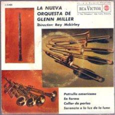 Discos de vinilo: GLENN MILLER / PATRULLA AMERICANA + 3 (SG) 1962 (RCA VICTOR). Lote 84682984