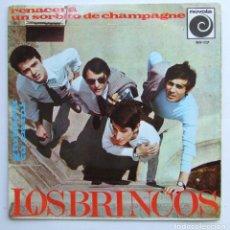 Discos de vinilo: LOS BRINCOS RENACERA UN SORBITO DE CHAMPAGNE GIULIETTA TU EN MI EP NOVOLO 1966. Lote 84683924