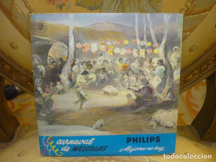 Discos de vinilo: CARNAVAL DE MELODIAS: ROCÍO DÚRCAL Y OTROS. PHILIPS 1.965. - Foto 2 - 84706388