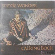 Discos de vinilo: STEVIE WONDER-TALKING BOOK (LP. TAMLA MOTOWN. 1973) PORTADA ABIERTA. CLASICO DEL SOUL FUNK. Lote 84707336