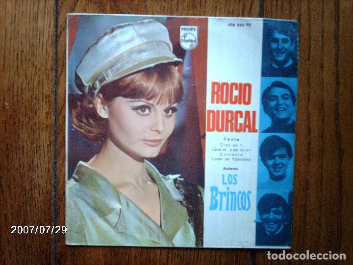 ROCIO DURCAL - CREO EN TI + ¡ QUE VA A SER DE MI ! + CONTENTO + CARTEL DE PUBLICIDAD (Música - Discos de Vinilo - EPs - Solistas Españoles de los 50 y 60)