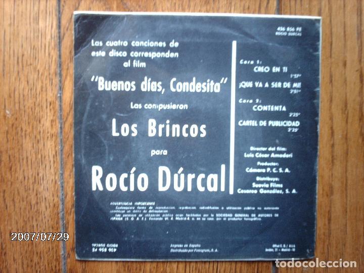 Discos de vinilo: rocio durcal - creo en ti + ¡ que va a ser de mi ! + contento + cartel de publicidad - Foto 2 - 84715084