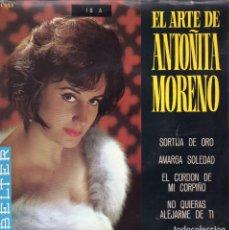 Discos de vinilo: ANTOÑITA MORENO, EP, SORTIJA DE ORO + 3, AÑO 1965. Lote 84721436