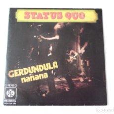 Discos de vinilo: STATUS QUO - GERDUNDULA. Lote 84729580