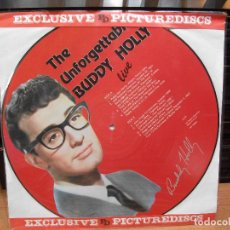 Discos de vinilo: BUDDY HOLLY / SD / THE UNFORGETTABLE B.HOLLY LP PICTURE HOLANDA 1957 PDELUXE. Lote 84735020