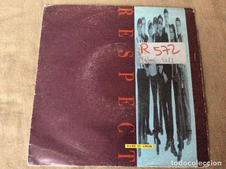RESPECT. DAME TU AMOR. PROMOCIONAL. GASA 1992. (Música - Discos - Singles Vinilo - Grupos Españoles de los 90 a la actualidad)