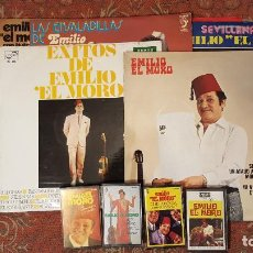 Discos de vinilo: EMILIO EL MORO,VINILO LP, CASSETTE LOTE DE 7 VINILOS Y 4 CASETES,VER DETALLES.. Lote 84776200