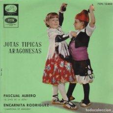 Discos de vinilo: REGIONAL - JOTAS TIPICAS ARAGONESAS / PASCUAL ALBERO - ENCARNITA RODRIGUEZ (EP 1962). Lote 84787312