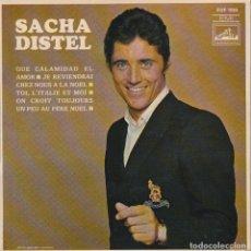 Discos de vinilo: SACHA DISTEL / QUE CALAMIDAD DE AMOR + 3 (EP FRANCES). Lote 84789596