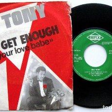 Discos de vinilo: BIG TONY - CAN'T GET ENOUGH (OF YOUR LOVE BABE) - SINGLE MAX MUSIC 1986 BPY ITALO DISCO. Lote 84800456